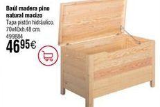 Oferta de Baúl madera pino natural macizo  por 46,95€