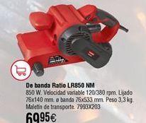 Oferta de Lijadora de banda RATIO LR850NM por 69,95€