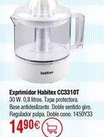 Oferta de Exprimidor HABITEX CC3310T 30W por 14,9€