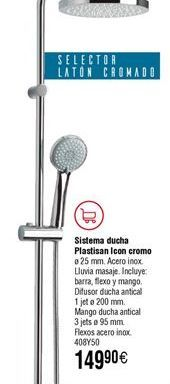 Oferta de Conjunto ducha PLASTISAN Icon cromo por 149,9€