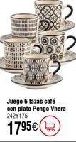 Oferta de Juego de café PENGO Vhera por 17,95€