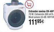 Oferta de Extractor de cocina S&P CK-40F 360 m3/h por 111,95€