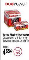 Oferta de Taco nilón multimaterial FISCHER Duopower por 4,65€