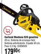 Oferta de Motosierra gasolina GARLAND Montana por 179,9€