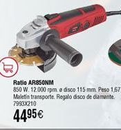 Oferta de Amoladora angular RATIO AR850NM por 44,95€