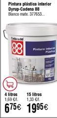 Oferta de Pintura plástica interior por 19,95€
