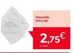 Oferta de Mascarilla FFP2 NR por 2,75€
