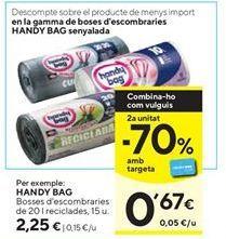 Oferta de Bolsas de basura Handy Bag por 2,25€