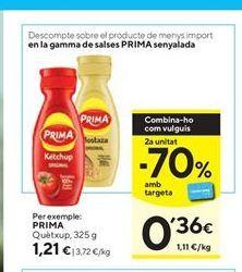 Oferta de Ketchup Prima por 1,21€