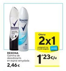 Oferta de Desodorante en spray Rexona por 2,46€