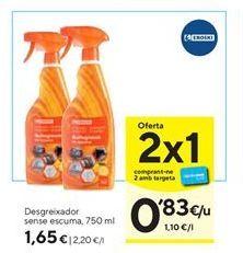 Oferta de Desengrasante para el hogar eroski por 1,65€