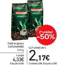 Oferta de Café en grano Catunambú por 4,33€