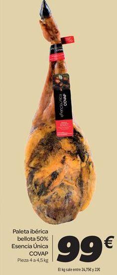 Oferta de Paleta ibérica bellota 50% Esencia Única COVAP por 99€