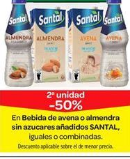Oferta de En Bebida de avena o almendra sin azúcares añadidos SANTAL por