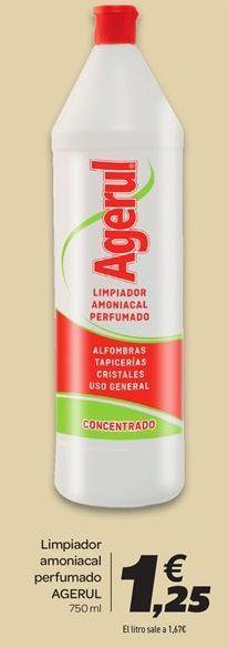Oferta de Limpiador amoniacal perfumado AGERUL por 1,25€