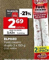 Oferta de Fuet elpozo por 2,69€