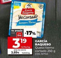 Oferta de Queso tierno García Baquero por 3,19€
