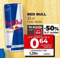 Oferta de Bebida energética Red Bull por 1,29€