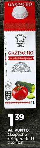 Oferta de Gazpacho por 1,39€