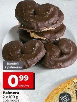 Oferta de Palmeras de chocolate por 0,99€