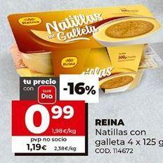 Oferta de Natillas reina por 0,99€