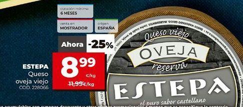 Oferta de Queso de oveja Estepa por 8,99€