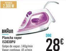 Oferta de Plancha vapor IS3030PU BRAUN por 28€