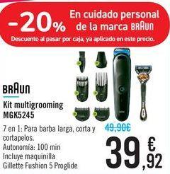 Oferta de Kit multigrooming MGK5245 BRAUN por 39,92€