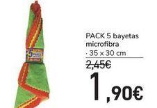 Oferta de PACK 5 bayetas microfibra  por 1,9€