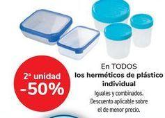 Oferta de En TODOS los herméticos de plástico individual por