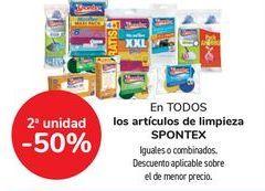 Oferta de En TODOS los artículos de limpieza SPONTEX por