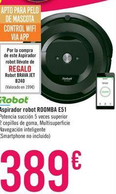 Oferta de Aspirador robot ROOMBA E511 iRobot por 389€