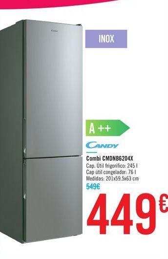 Oferta de Combi CMDNB6204X Candy por 449€