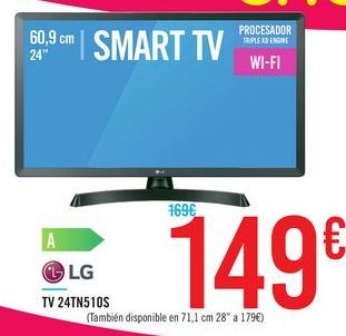 """Oferta de SMART TV 24"""" 24TN510S por 149€"""