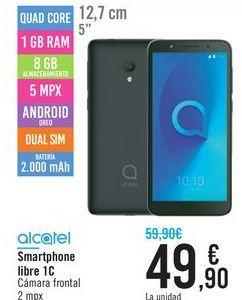 Oferta de Smartphone libre 1C 2019 Alcatel por 49,9€