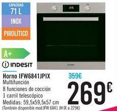 Oferta de Horno IFW6841JPIX INDESIT por 269€