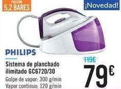 Oferta de Sistema de planchado ilimitado GC6720/30 PHILIPS por 79€