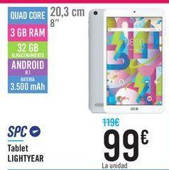 Oferta de Tablet LIGHTYEAR SPC por 99€