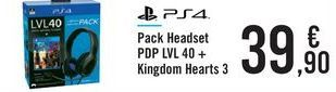 Oferta de Pack Headset PDP LVL 40 + Kingdom Hearts 3 por 39,9€