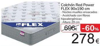 Oferta de Colchón Red Power FLEX 90x190 por 278€