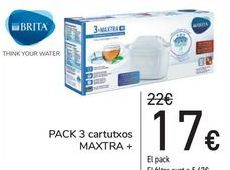 Oferta de PACK 3 cartuchos MAXTRA+ por 17€