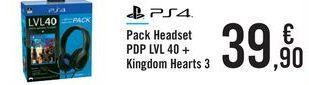 Oferta de Pack Headset PDP LVL 40 + Kingdom Hearts 3 por 39,9€