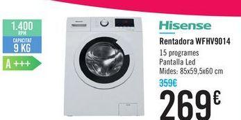 Oferta de Lavadora WFHV9014 Hisense por 269€