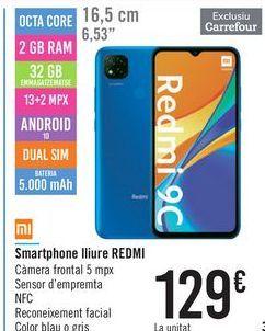 Oferta de Smartphone libre REDMI 9C  por 129€