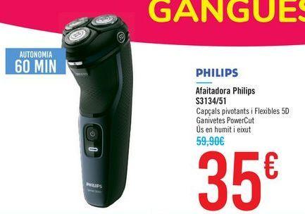 Oferta de Afeitadora Philips S3134/51 PHILIPS por 35€