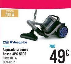 Oferta de Aspirador sin bolsa APC 5000 Orbegozo por 49€