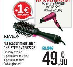 Oferta de Secador moldeador ONE-STEP RVDR5222E REVLON por 49,9€