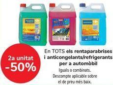 Oferta de En TODOS los lavaparabrisas y anticongelantes/ refrigerantes para automóvil, iguales o combinados  por