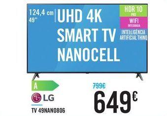 "Oferta de TV 49"" UHD 4K SMART TV NANOCELL 49NAN0806 LG por 649€"