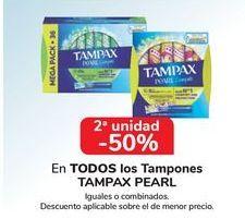 Oferta de En TODOS los tampones TAMPAX PEARL, iguales o combinados  por